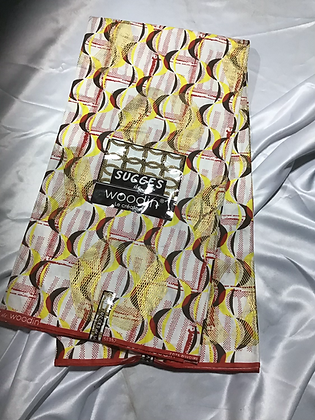 Woodin Succes Fabric, red, yellow, black