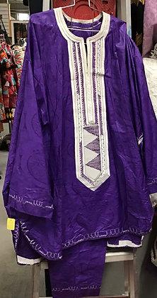 Purple Brocade Suit
