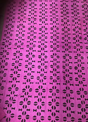 Hand Woven Mud Cloth (67) pink