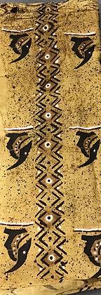 African Mud Cloth PRINT Fabric - #91 - beige/brown