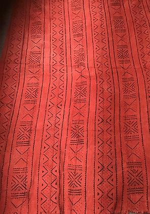 Hand Woven Mud Cloth (64) orange
