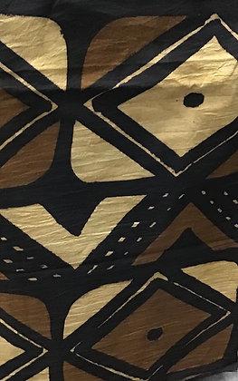 African Mud Cloth PRINT Fabric - #82, beige, tan, black, white, creme