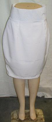White High-Waist Pencil Skirt