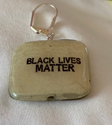 Wood Black Lives Matter Earrings