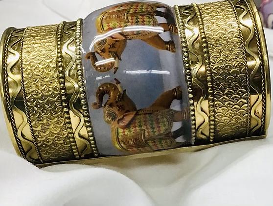 Cuff Elephant Bracelet