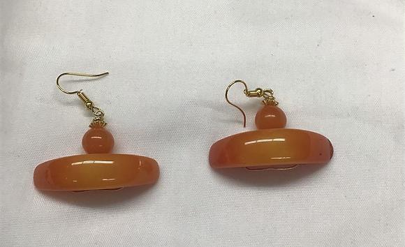 Amber Color Acrylic Earrings