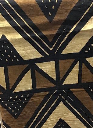 African Mud Cloth PRINT Fabric - #81, beige, tan, black, white, creme