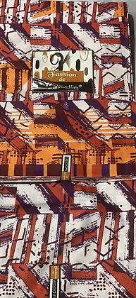 Woodin fashion Fabric, orange, purple, magenta
