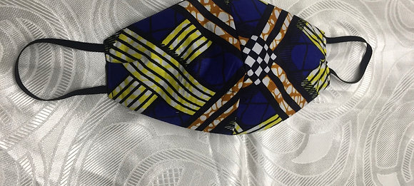 African Print Fabric Reversible Mask