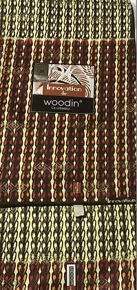 Woodin Invocation Fabric, crime, orange, brown, rust