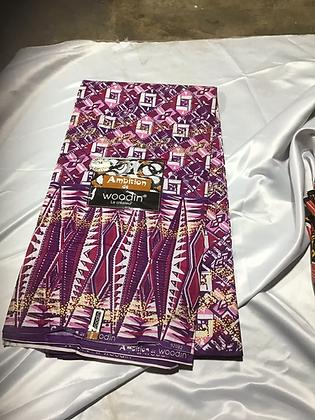 Woodin Ambition Fabric, purple, pink. gold