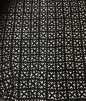 Hand Woven Mud Cloth (61) black and white
