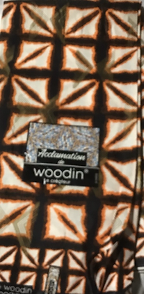 Woodin Acclamation  Fabric, orange, black, boxes