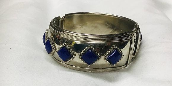 Bangle Bracelet with blue stones