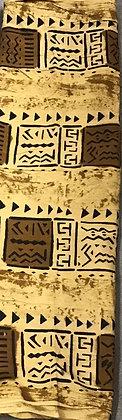 African Mud Cloth PRINT Fabric - #92 - beige/brown