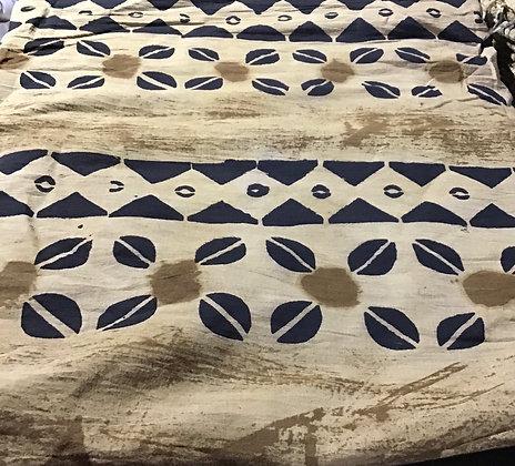 African Mud Cloth PRINT Fabric - #106 - beige/brown