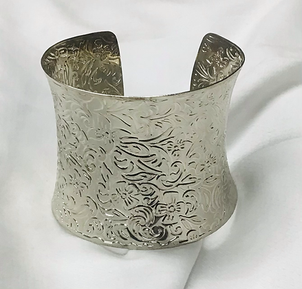 Cuff bracelet, silver-plated