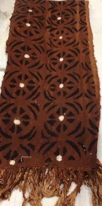 Fringed Mud Cloth Scarve