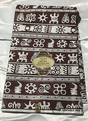 African Retro Style Bogolan Print Fabric,  African symbols