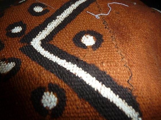 Brown & Black Mud Print Fabric