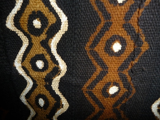 Black, Brown & Beige Mud Print Fabric
