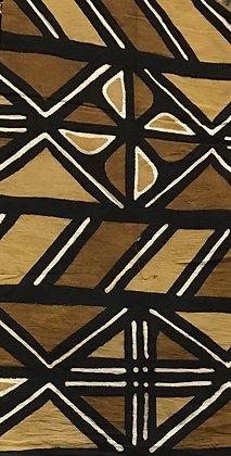 African Mud Cloth PRINT Fabric - #72, beige, tan, black, white, brown