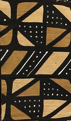 African Mud Cloth PRINT Fabric - #73, beige, tan, black, white, dots