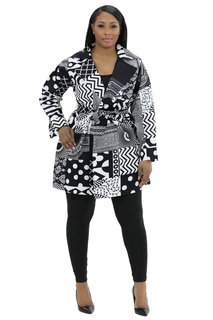 African Wax Print Jackets, head wrap and mask