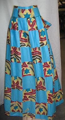 Long African Print Skirt