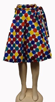 Polka-Dot Mid-Length Skirt