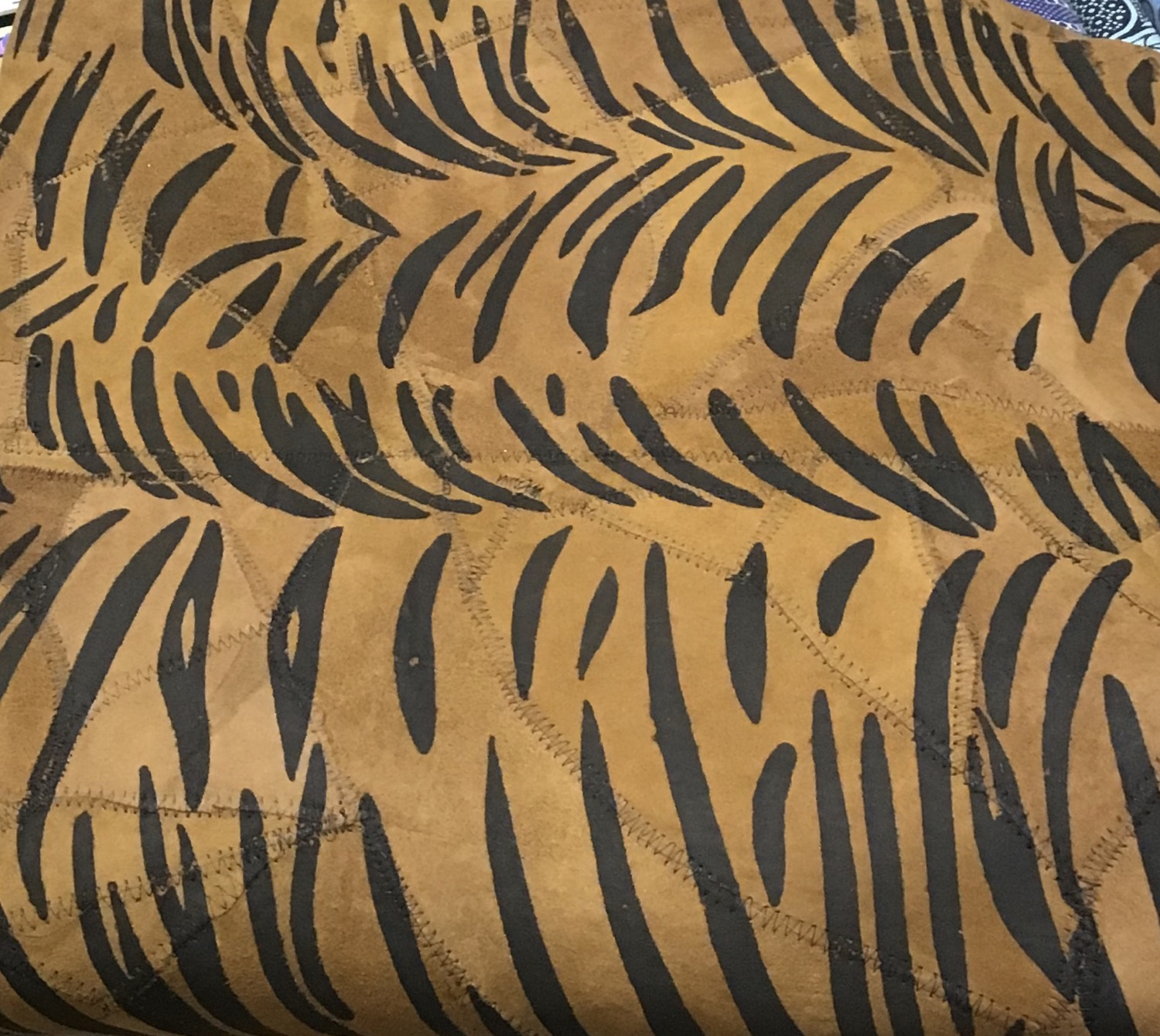 Tiger Print Faux Suede Fabric