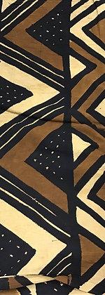 African Mud Cloth PRINT Fabric - #86, beige, tan, black
