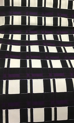 African Fabric, black,white, purple
