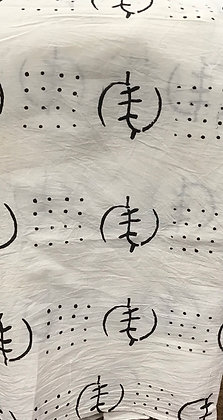 African Mud Cloth PRINT Fabric - #59, black and white