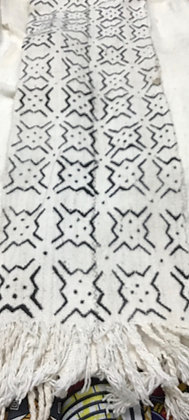 Black and White Mud Cloth scarve
