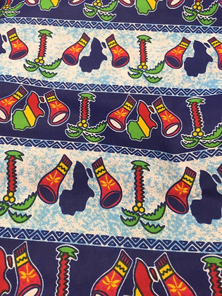 African Fabric (Blue)