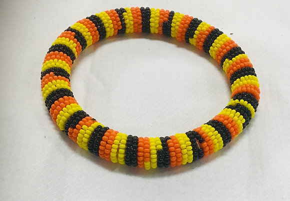 Beaded Bangle, yellow, orange, black, you can stack them at this price