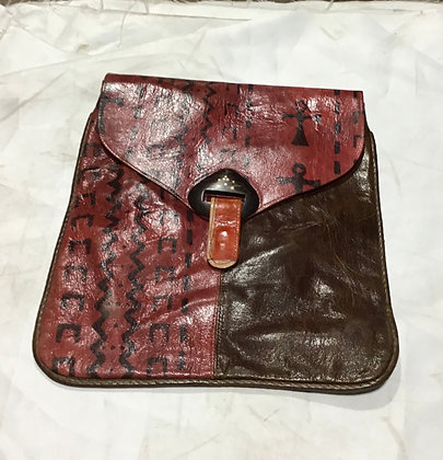 Leather Crossover - Red and brown