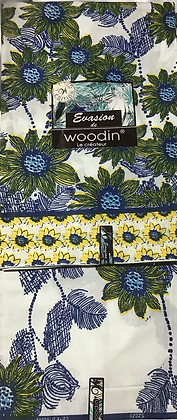 Woodin EvasionFabric, blue, yellow, green, flowers