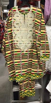 Multi-Colored Brocade Suit