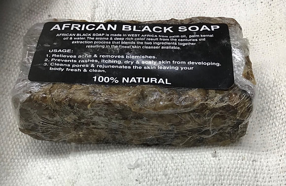 Natural Black Soap - Chunk