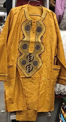 Gold and Black Brocade Suit