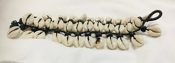 Cowrie shell bracelet, three strand
