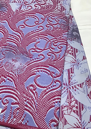 Woodin Print Fabric, purple, lilac