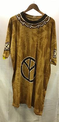 Mud Cloth Print Shirt - Peace