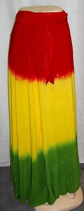 Multi-Color Wrap-Around Skirt