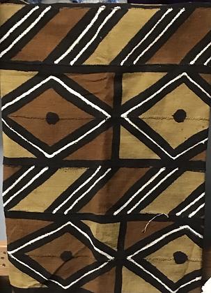 Hand Woven Mud Cloth (8), diamonds with black dots