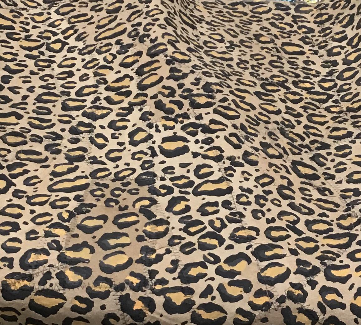 Leopard Faux Suede Fabric