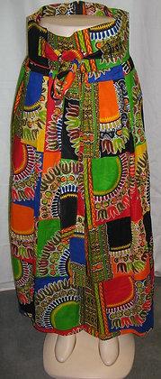Dashiki Print Wrap-Around Skirt