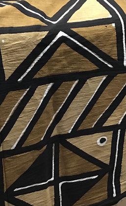 African Mud Cloth PRINT Fabric - #78,  beige, tan, black, white, creme